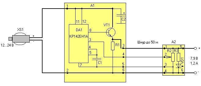 Схема электрическая устройства